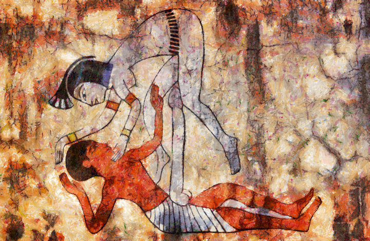 Ancient Egypt erotic drawing